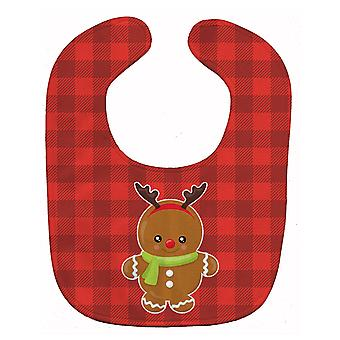 Carolines skarby BB8776BIB renifer Gingerbread Baby Bib