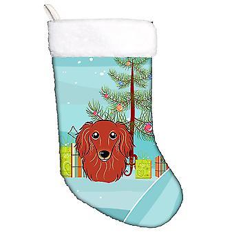 شجرة عيد الميلاد وذوق الكلب الألماني الأحمر عيد الميلاد تخزين