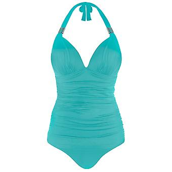 Seaspray 33-2347 Women's Just Colour Aqua Blue Shaping Swimsuit