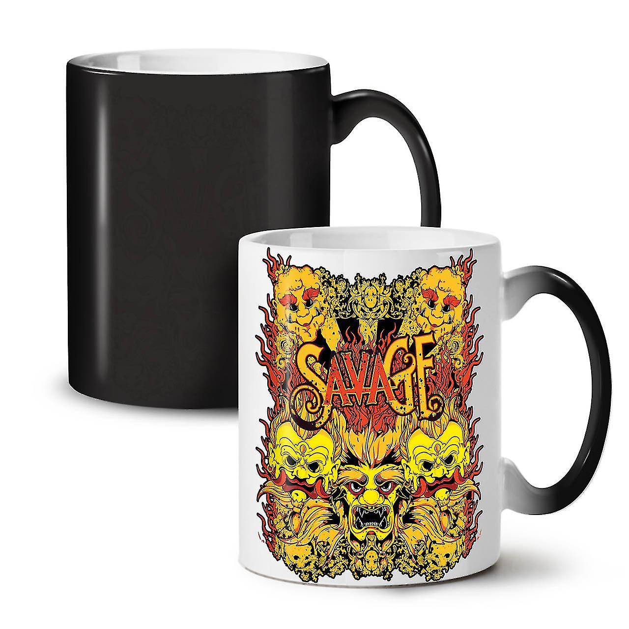 Savage Tasse Couleur 11 Japon De Thé Diable Noir Café OzWellcoda Changeant Céramique Nouveau 3RS54ALcjq