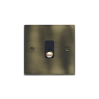 Hamilton Litestat Cheriton Victorian Antique Brass 20A Cable Outlet BL