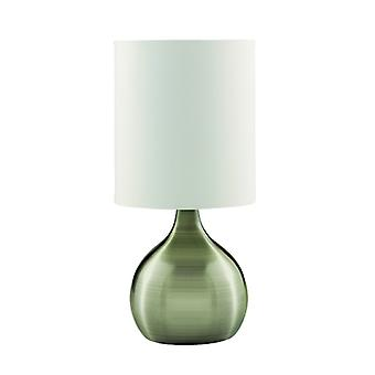 Antique Brass Pear Base Touch Table Lamp With Fabric Shade - Searchlight 3923ab