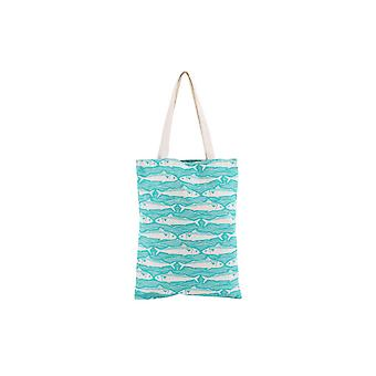 CGB Giftware Harbour Teal Fish Shopping Bag