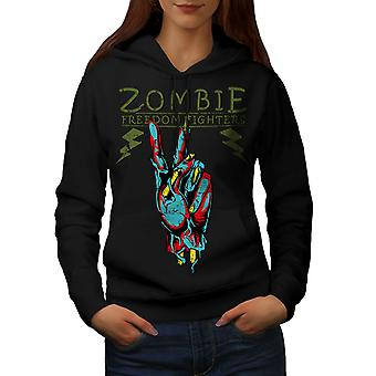 Bojownik o wolność Zombie kobiet BlackHoodie   Wellcoda