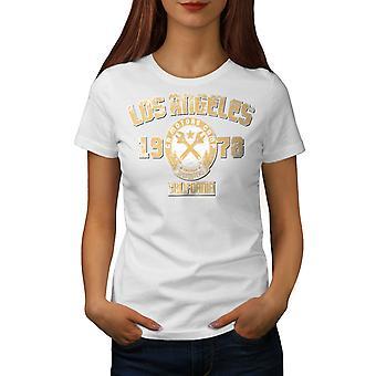 Los Angeles California Frauen WhiteT-Shirt | Wellcoda