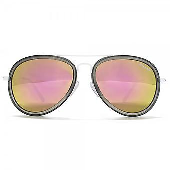 Miss KG Plastic Combo Pilot Sunglasses In Crystal Grey