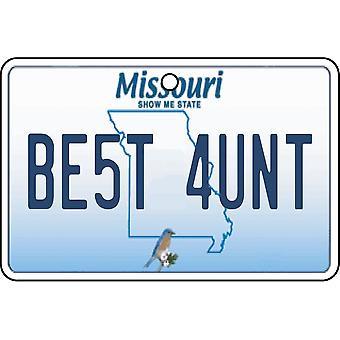 Missouri - Best Aunt License Plate Car Air Freshener