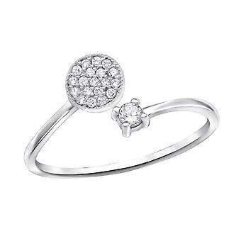Open Micro Pave - 925 Sterling Zilver Jewelled ringen