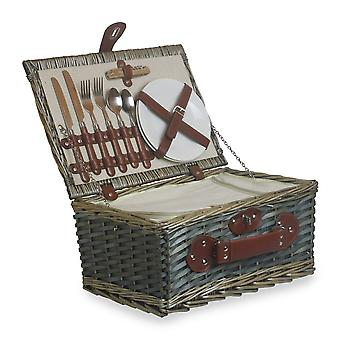 2 Person Chipwood Picnic Basket