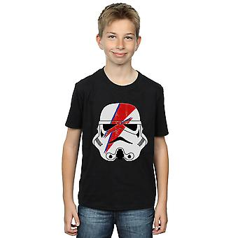 Star Wars Boys Stormtrooper Glam Lightning Bolt T-Shirt