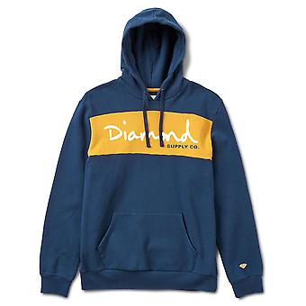Diamond Supply Co OG Skript Strick Hoodie blau
