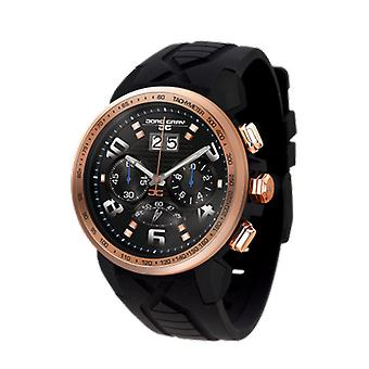 Jorg Gray Mens JG5600-22 Chronograph Watch Black Dial Silicone Strap