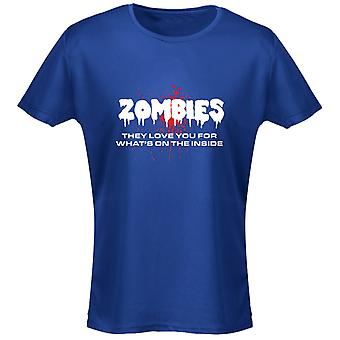 Zomies Love You For Whats On The Inside Funny Womens T-Shirt 8 Colours by swagwear