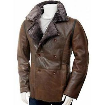 Nelson Mens Distressed Leather Jacket