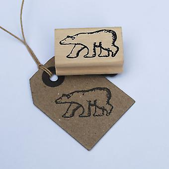 East Of India Polar Bear Rubber Stamp Christmas / Scrapbooking / Craft