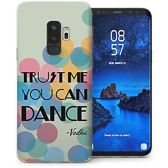S9 Samsung Galaxy Plus Vodka baila divertido citar Gel de TPU – verde