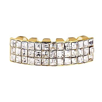 One Size Fits All Bling Grillz - INVISIBLE BOTTOM - Gold