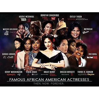 Famous African American Actresses Poster Art Print (24x18)