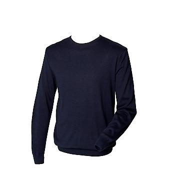 Henbury Mens Long Sleeve Crew Neck Jumper