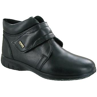 Cotswold Ladies Chalford Touch Fastening Leather Waterproof Boot Black