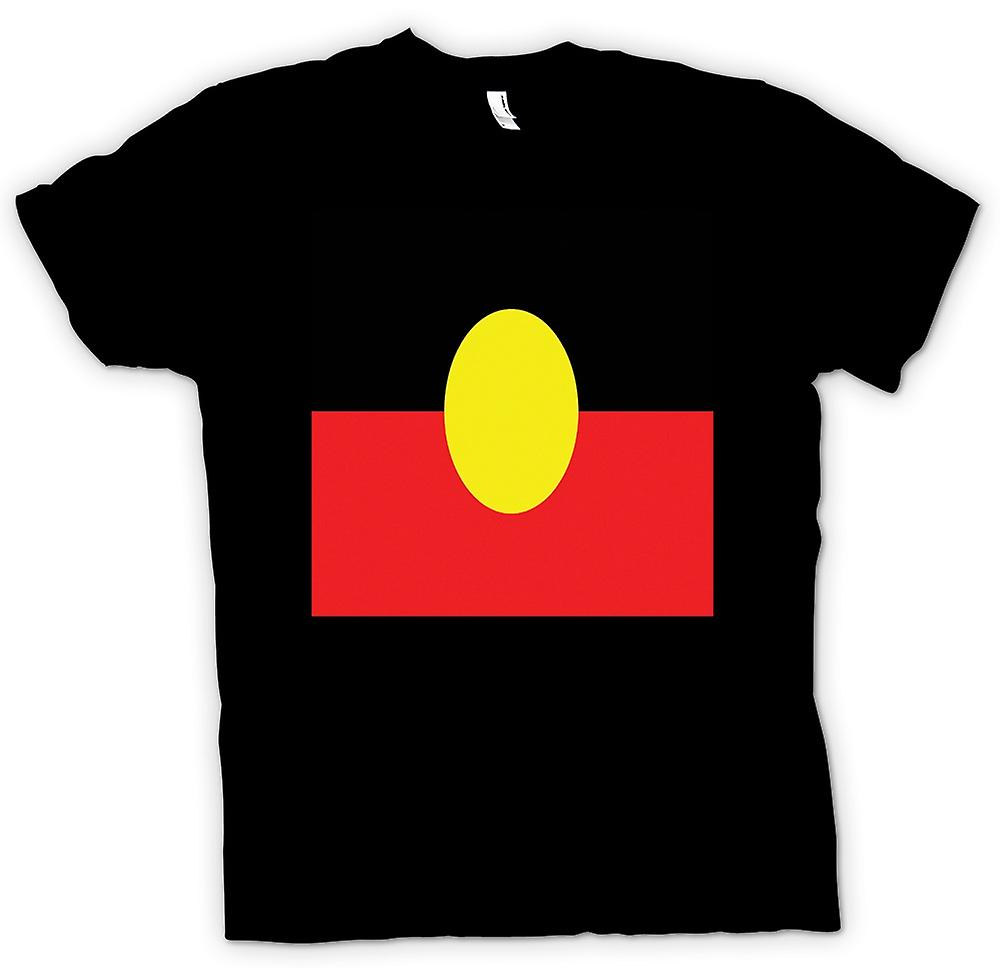 Damen-T-Shirt - Australian Aboriginal Flag