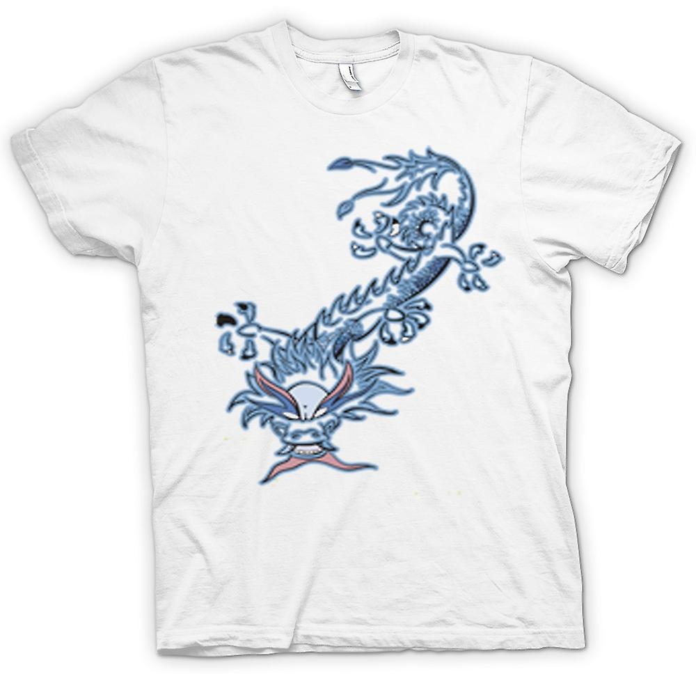 Womens T-shirt - Oriental Dragon Tribal