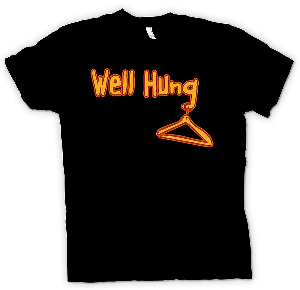 Mens T-shirt - Well Hung - Funny