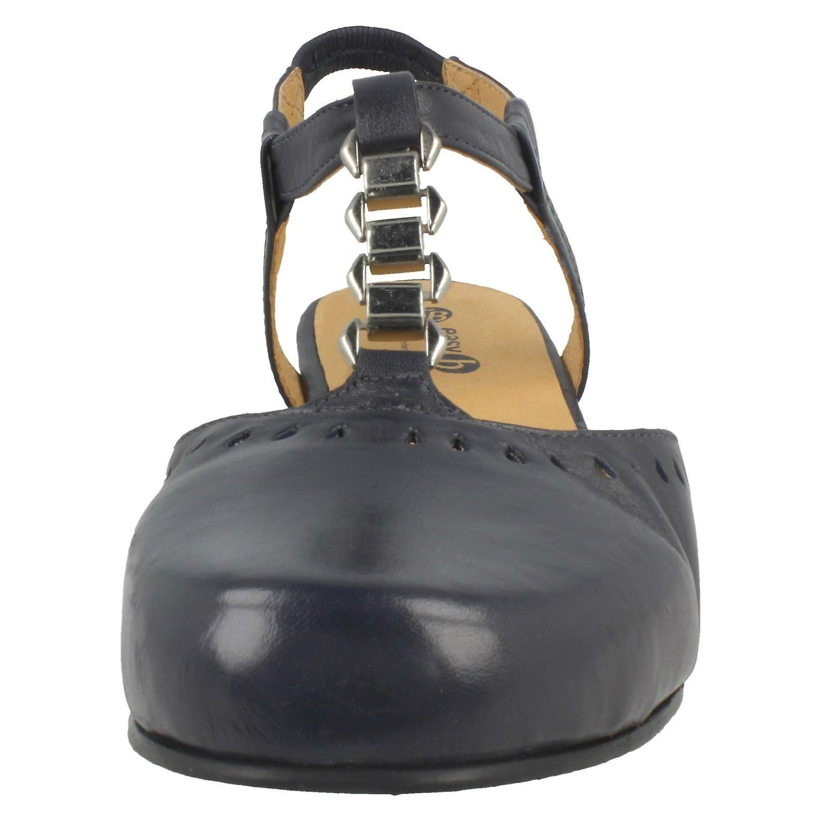 d279d45e3b Ladies Easy B Cut Out Slingbacks Brittany 78463N - Navy Leather - UK Size  10 4E