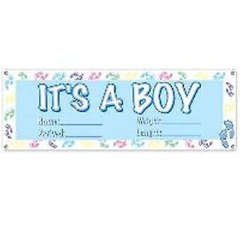 To jest baner chłopiec