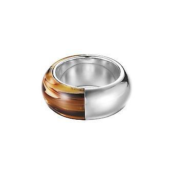 Esprit Damen Ring Edelstahl Tortoise light ESRG12153A1