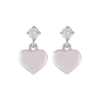 ESPRIT kids earrings silver heart ESER92651A000