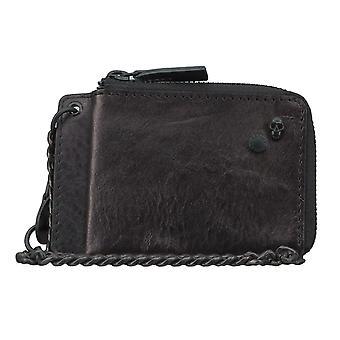 Replay carte affaire portefeuille pochette avec pendentif cuir noir 4571