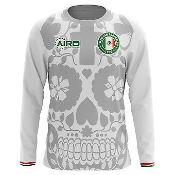 2018-2019 Mexico weg Concept voetbalshirt met lange mouwen
