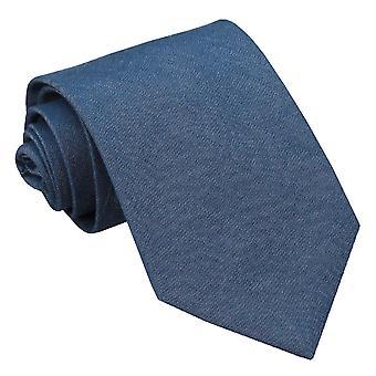 Marineblauwe Chambray katoen klassieke Tie