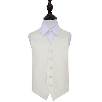 Ivory Plain Satin Wedding Waistcoat for Boys