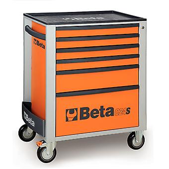 Beta 024002063 C24S 6/R Mobile Roller Cabinet With Six Drawers