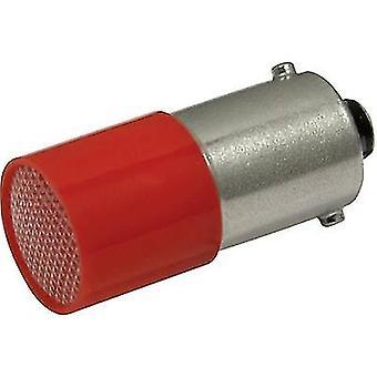 CML LED bulb BA9S Red 110 Vdc, 110 V AC 0.4 lm
