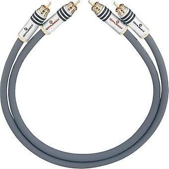 RCA audio/phono kabel [2x RCA plug (phono)-2x RCA plug (phono)] 2,75 m antraciet vergulde connectors Oehlbach NF 14 MASTER