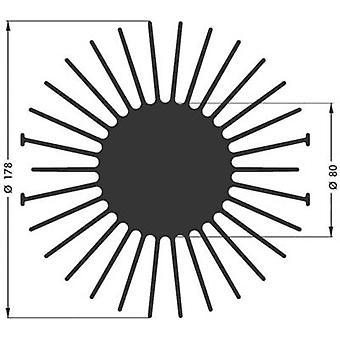 LED heat sink 1.7 C/W (Ø x H) 178 mm x 15 mm Fischer Elektronik