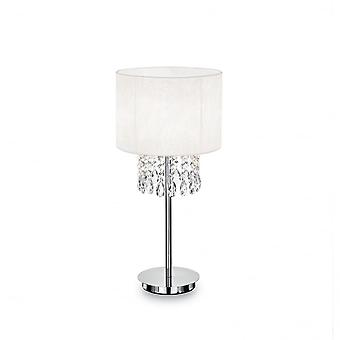 Ideal Lux Opera Modern Crystal Table Lamp With White Shade