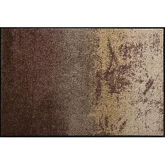 Shabby Brown washable floor mat Salon lion