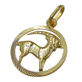 Gold Zodiac pendants Capricorn 375 zodiac sign, Capricorn, 9 KT GOLD