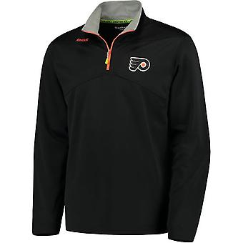 Reebok center ice baselayer 1/4 zip NHL jacket Philadelphia Flyers