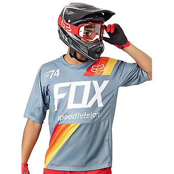 Fox Slate Blue 2018 Demo Drafter Short Sleeved MTB Jersey