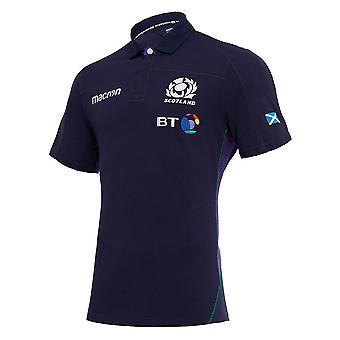 2018-2019 Schotland thuis SS katoen Rugby Shirt.