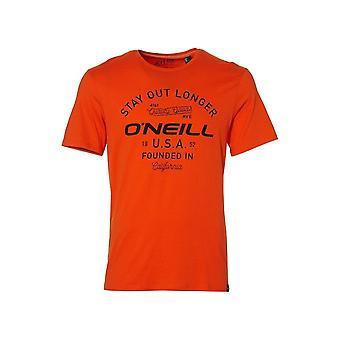 O'Neill LM Stay Out Longer Crew-Neck T-Shirt, Dutch Orange
