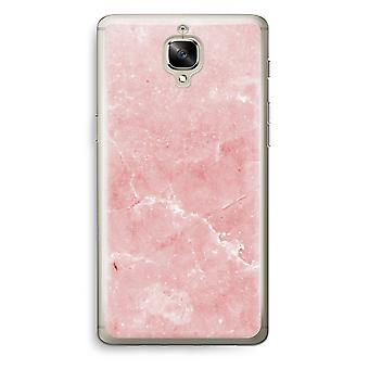 OnePlus 3T Transparent Case (Soft) - Pink Marble