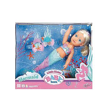 Baby Born Puppe kleine Schwester Meerjungfrau Funktion