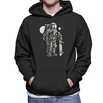 Astronaut Skater Men's Hooded Sweatshirt