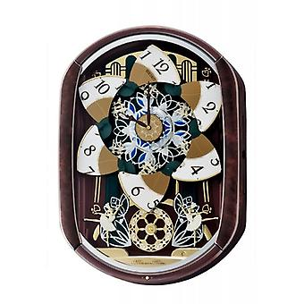 Seiko QXM297B Melody in Motion Wall Clock 12 Melodien & 14 LED-Leuchten